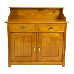 Art Nouveau Cherry Half Cabinet with Top