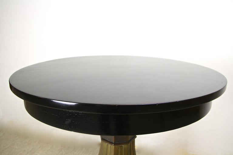 Art Nouveau Coffee/ Side Table with Brass Base, Austria, circa 1910 For Sale 3