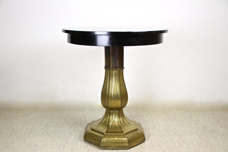 Art Nouveau Coffee/ Side Table with Brass Base, Austria, circa 1910 For Sale 6