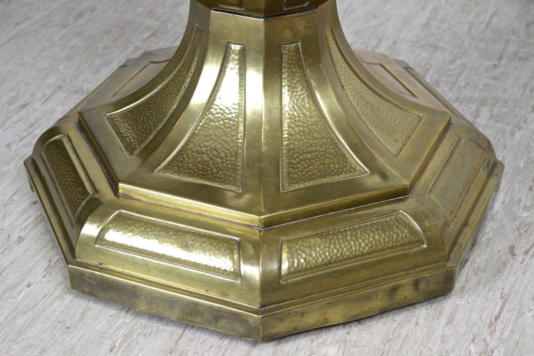 Austrian Art Nouveau Coffee/ Side Table with Brass Base, Austria, circa 1910 For Sale
