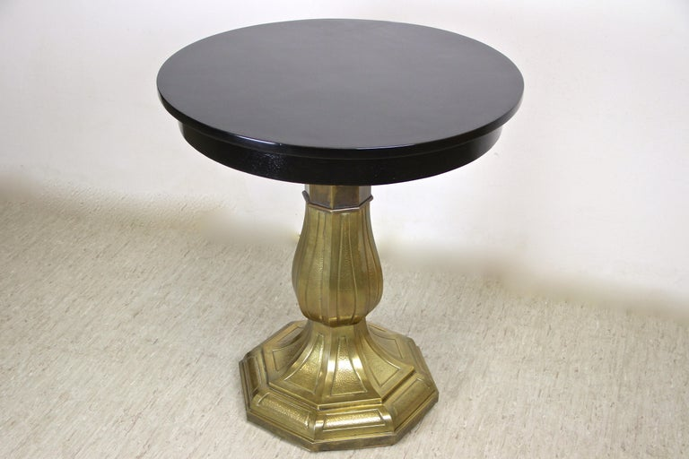20th Century Art Nouveau Coffee/ Side Table with Brass Base, Austria, circa 1910 For Sale