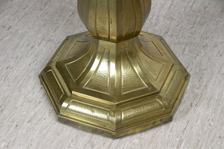 Art Nouveau Coffee/ Side Table with Brass Base, Austria, circa 1910 For Sale 1