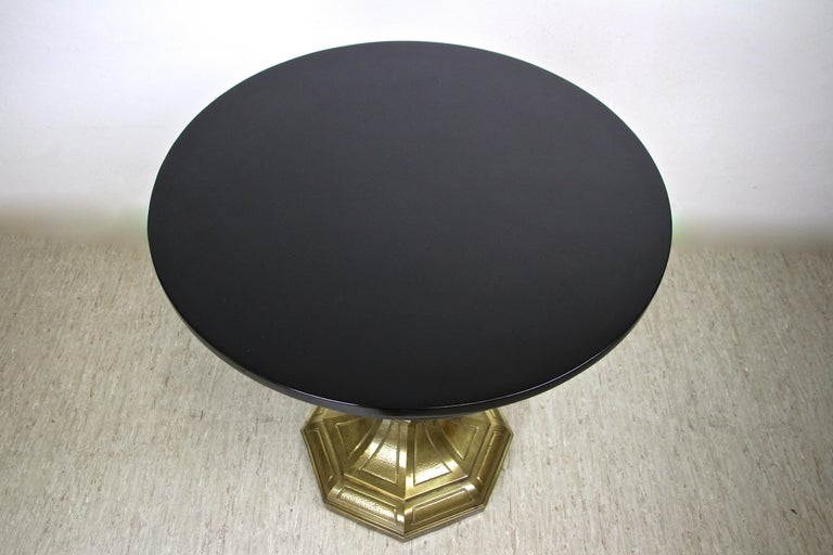 Art Nouveau Coffee/ Side Table with Brass Base, Austria, circa 1910 For Sale 2
