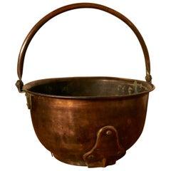 Art Nouveau Copper Coal or Log Bucket