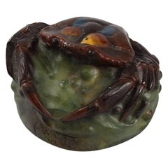 Art Nouveau Crab Paperweight by Amalric Walter