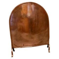 Art Nouveau Decorative Copper Fire Screen