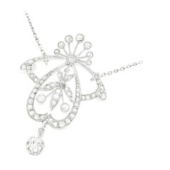 Art Nouveau Diamond Set Necklace