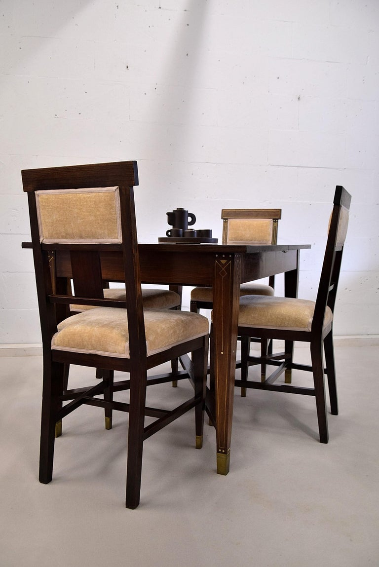 Art Nouveau Dining Set In Good Condition For Sale In Weesp, NL