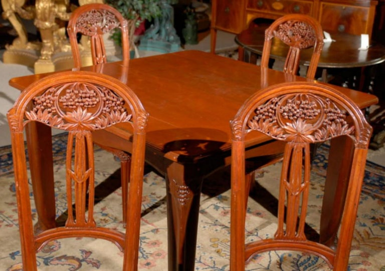Art Nouveau Dining Set For Sale 1