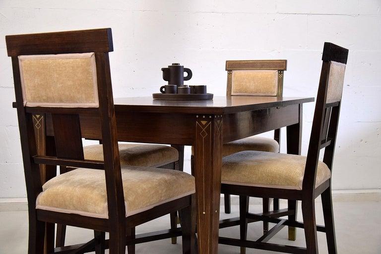 Art Nouveau Dining Set For Sale 2