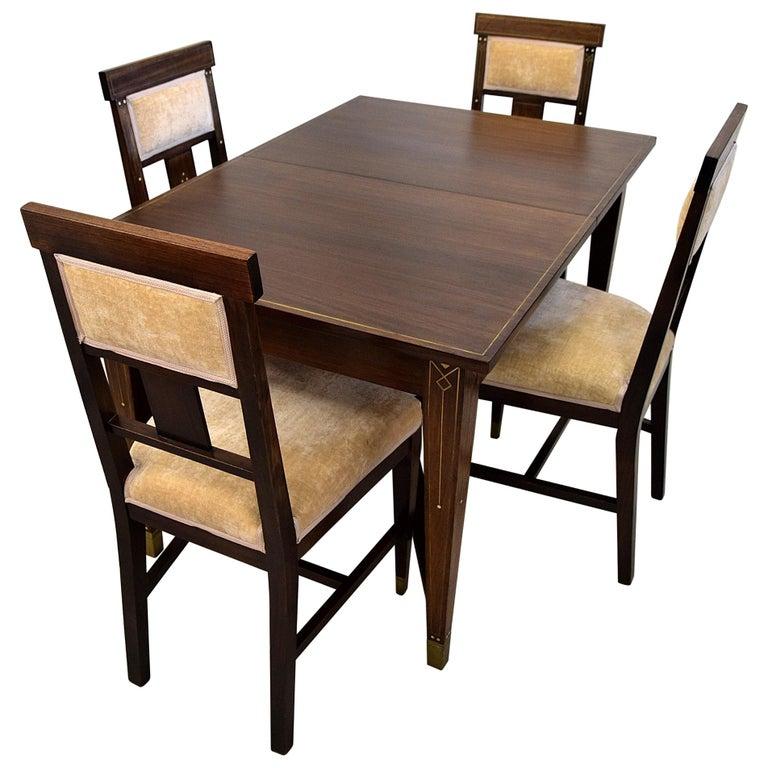 Art Nouveau Dining Set For Sale