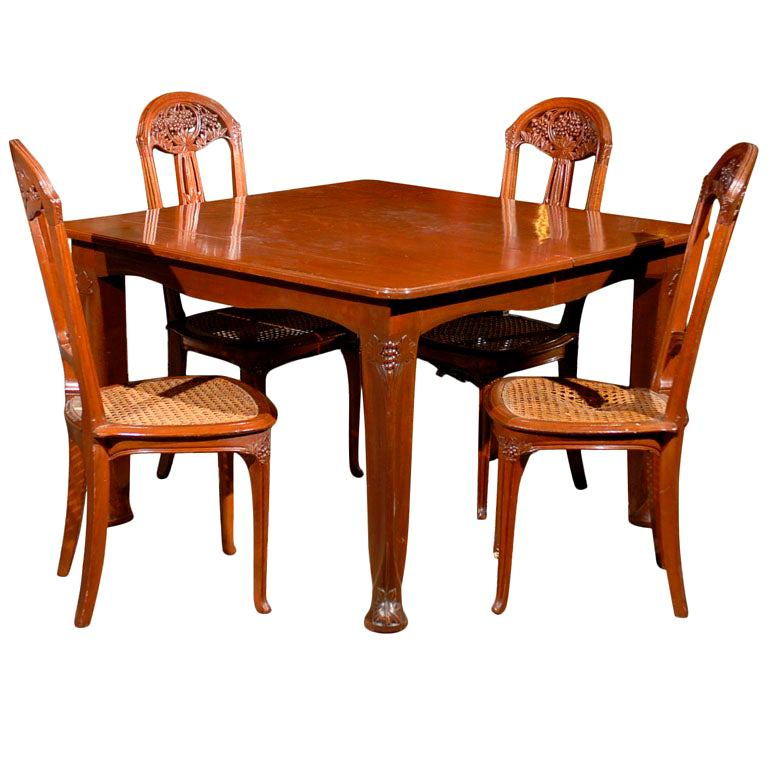 Art Nouveau Dining Set For Sale