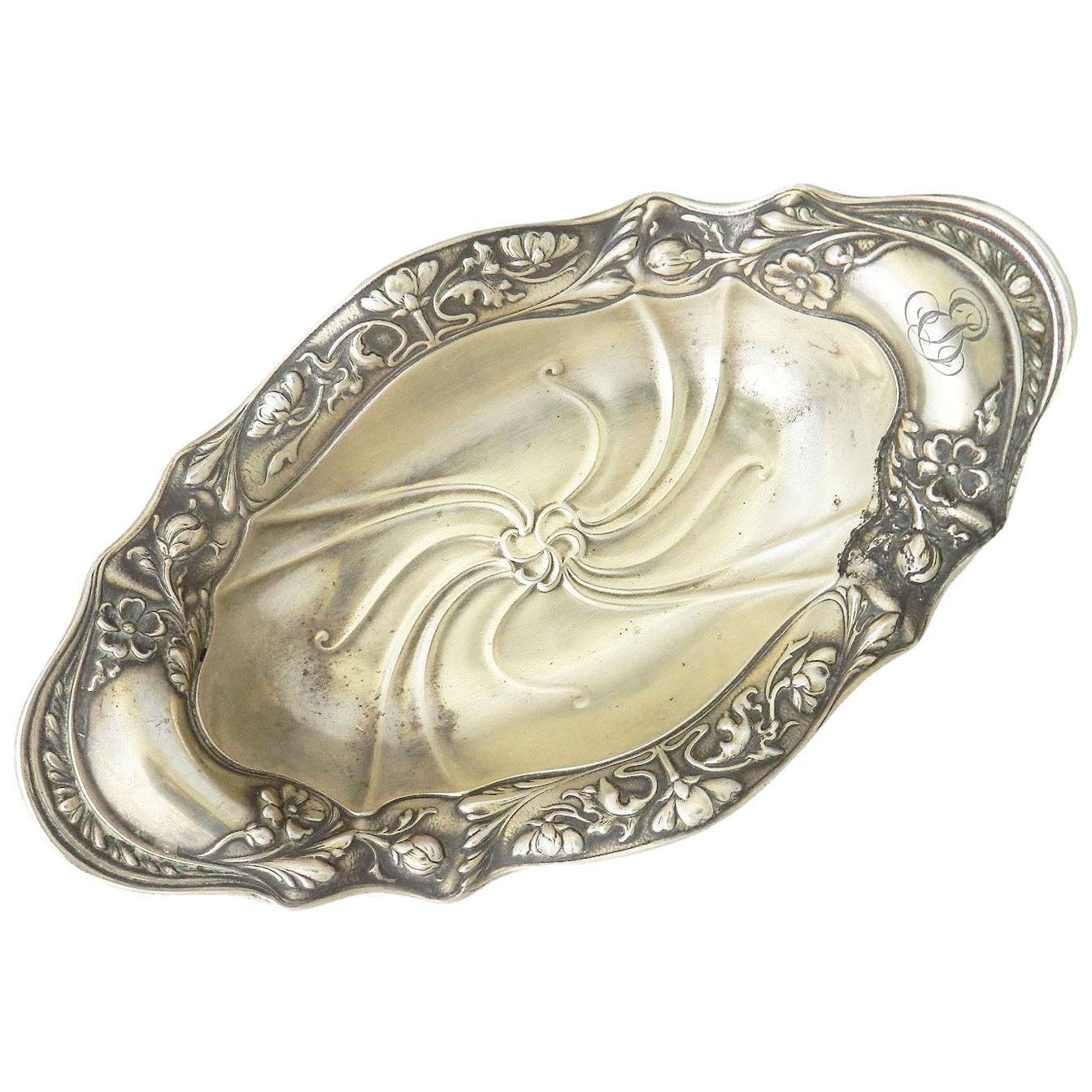 Art Nouveau Bonbon Dish Gorham Silver Sterling