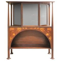 Art Nouveau Display Cabinet by Bath Cabinet Makers