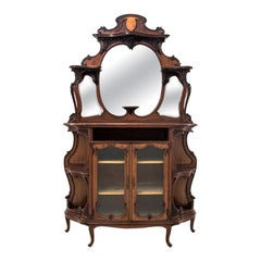 Art Nouveau Display Cabinet from circa 1890, Antique