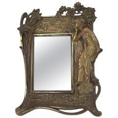 Art Nouveau Easel Frame with Female Figure
