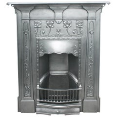 Art Nouveau Edwardian Cast Iron Combination Grate