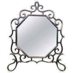 Art Nouveau Edwardian Sterling Silver Dressing Table Mirror