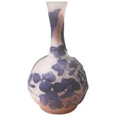 Art Nouveau Emile Galle Four Color Cameo Vase