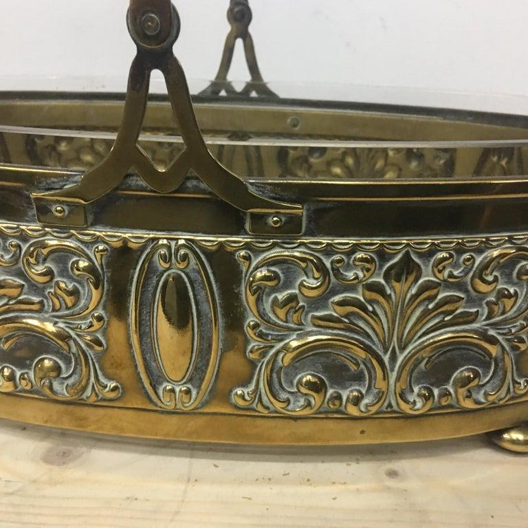 20th Century Art Nouveau English Brass Centerpiece, circa 1910 For Sale