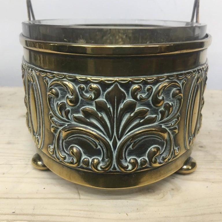 Art Nouveau English Brass Centerpiece, circa 1910 For Sale 1