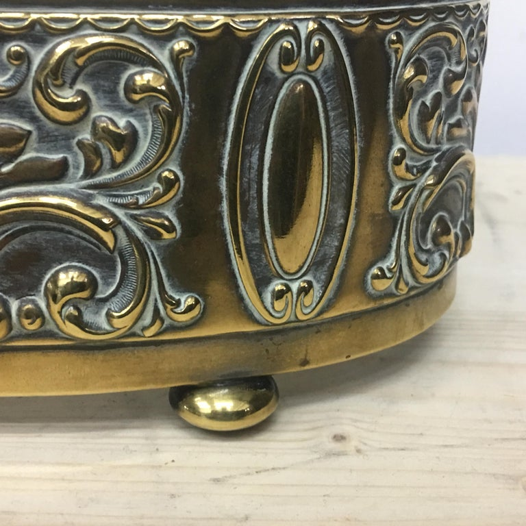 Art Nouveau English Brass Centerpiece, circa 1910 For Sale 4