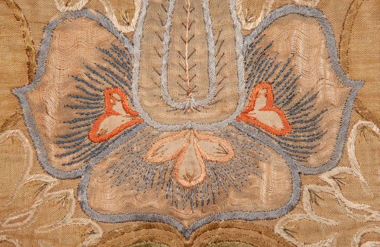 Embroidered Art Nouveau European Textile, 1900s For Sale