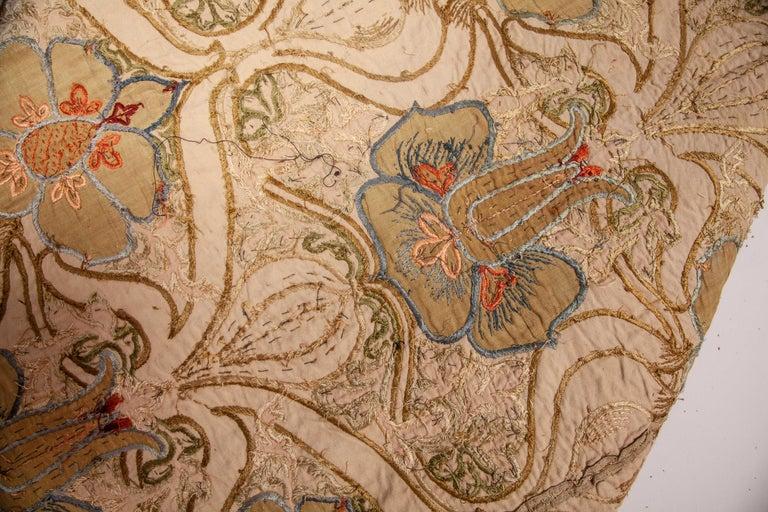 Cotton Art Nouveau European Textile, 1900s For Sale