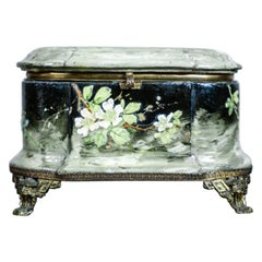 Art Nouveau Faience Casket from the Turn of the 19th and 20th Century