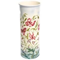 Art Nouveau Floral Porcelain Umbrella Stand Cane Holder