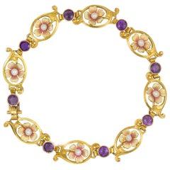 Art Nouveau Flower Bracelet