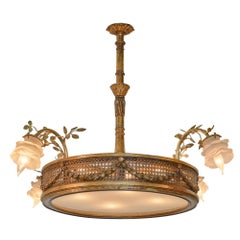 Art Nouveau French Chandelier