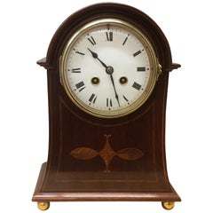 Art Nouveau French Mahogany Mantel Clock