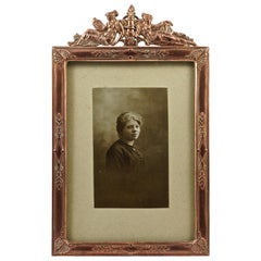 Art Nouveau French Picture Frame with a Lady Portrait Photograph