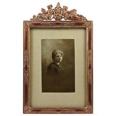 Art Nouveau French Picture Frame with a Lady Portrait Photograph