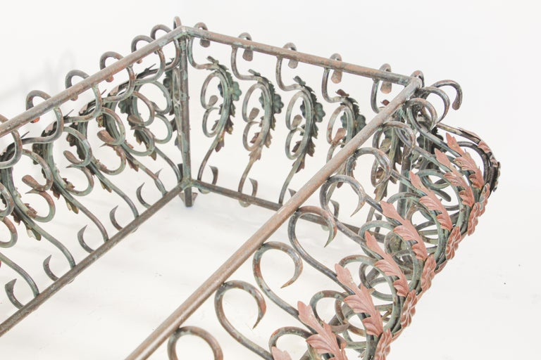 Art Nouveau French Wrought Iron Coffee Table Base For Sale 6