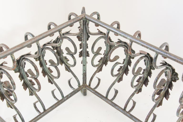 Art Nouveau French Wrought Iron Coffee Table Base For Sale 7