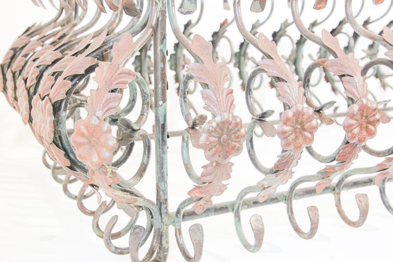Art Nouveau French Wrought Iron Coffee Table Base For Sale 9