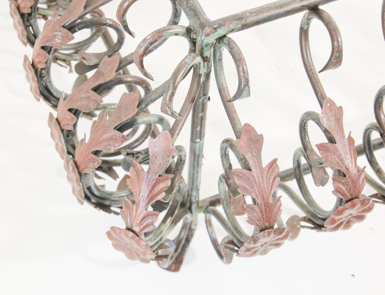 Art Nouveau French Wrought Iron Coffee Table Base For Sale 14