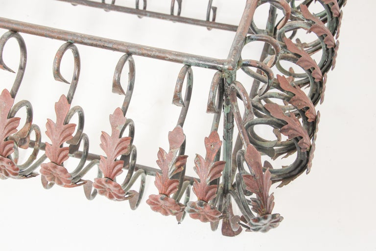 Hand-Crafted Art Nouveau French Wrought Iron Coffee Table Base For Sale