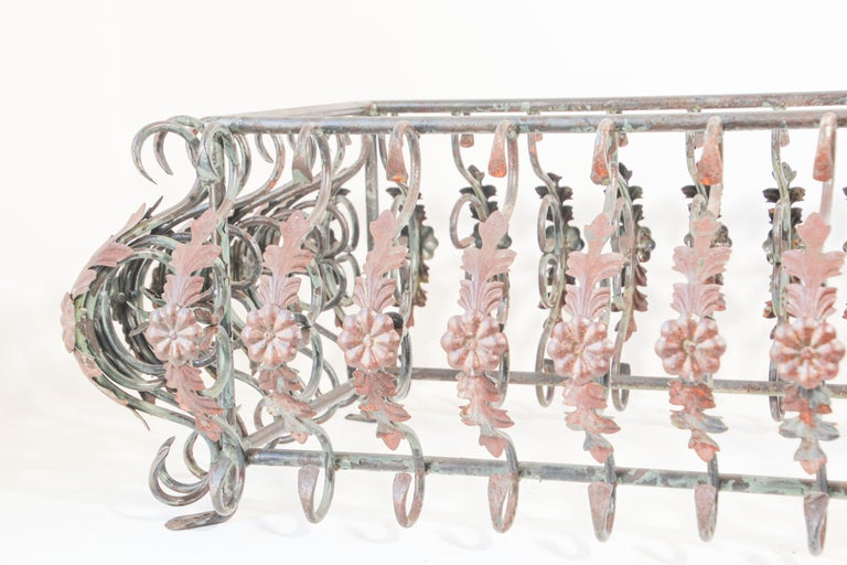 Art Nouveau French Wrought Iron Coffee Table Base For Sale 1