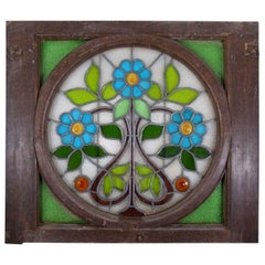 Art Nouveau Gaudi Style Catalonia Stained Glass