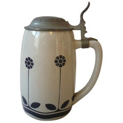 Art Nouveau German Beer Stein by Peter Behrens