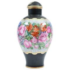 Art Nouveau German Porcelain Decorative Lidded Piece / Vase