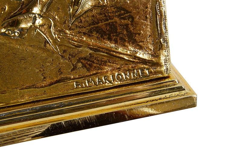 19th Century Art Nouveau Gilt Bronze Desk Set by Albert Marionnet For Sale