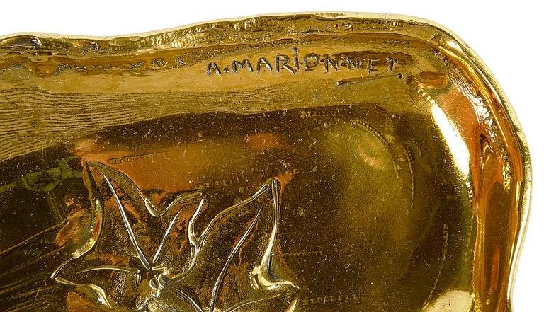 Art Nouveau Gilt Bronze Desk Set by Albert Marionnet For Sale 1