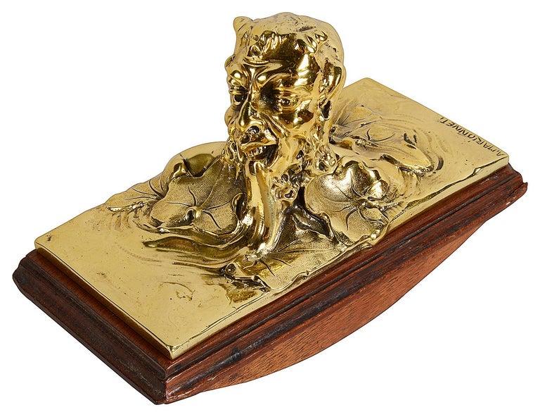 Art Nouveau Gilt Bronze Desk Set by Albert Marionnet For Sale 2