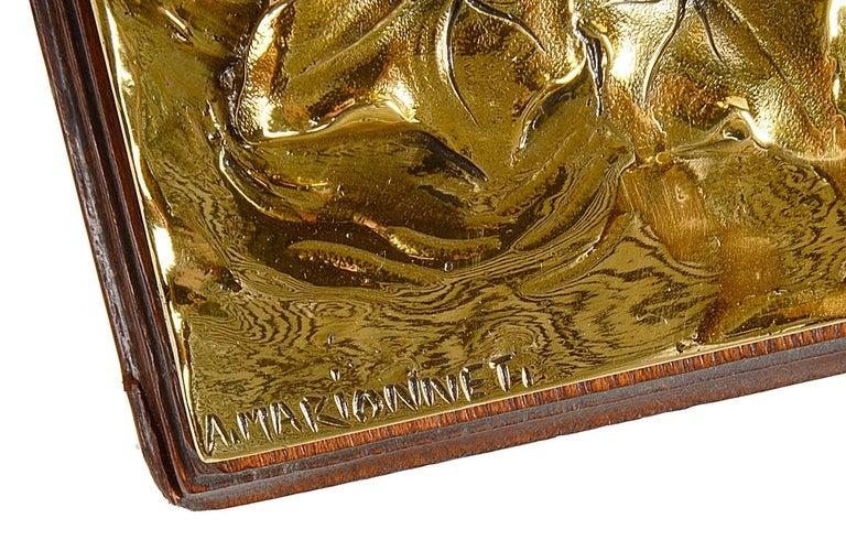 Art Nouveau Gilt Bronze Desk Set by Albert Marionnet For Sale 3