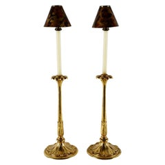 Art Nouveau-Style Gilt Carved Candlesticks