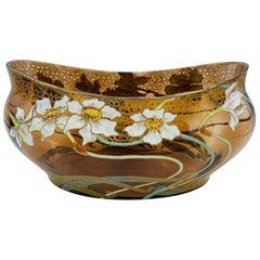 Art Nouveau Glass and Enamel Vase
